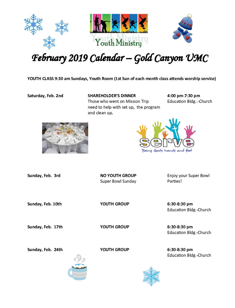 Feb Youth Calendar 2019